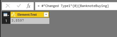 ABD-TRY Currency - Power BI 'da XML İle Veri Alma