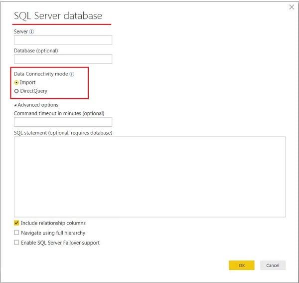 Power BI Veri Alma İşlemi -Get Data (Import /Direct Query)