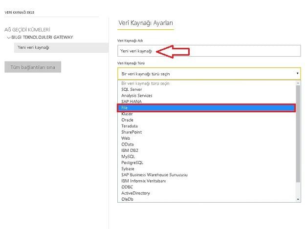 Excel Dosyasının Veri Kaynağı Olarak Tanımlanması