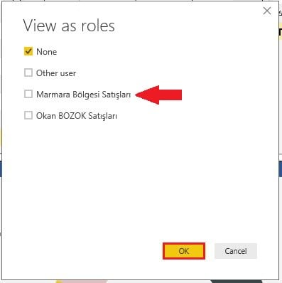 Power BI Views as Roles - Rolleri Test Etme -Power BI Roller İzinler Row Level Security-RLS