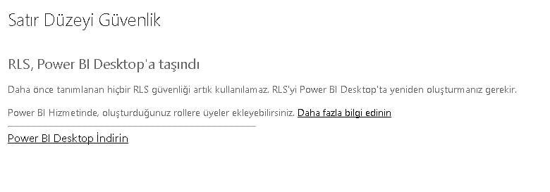 Power BI Web Ekranında Rollerin Görüntülenmemesi -Power BI Roller İzinler Row Level Security-RLS