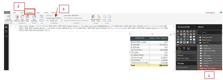 Data Formatını Değiştirme İşlemi