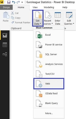 Power BI Desktop - Get Data From Web