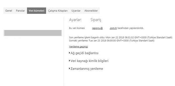Power BI Web - Yenilemeyi Zamanla (Schedule Refresh)