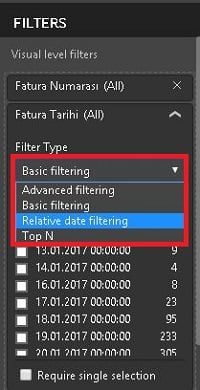Power BI Desktop'ta Filtreler (Power BI Filters)