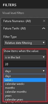 Power BI Desktop - Relative Date Filtering  - Power BI Desktop'ta Filtreler (Power BI Filters)