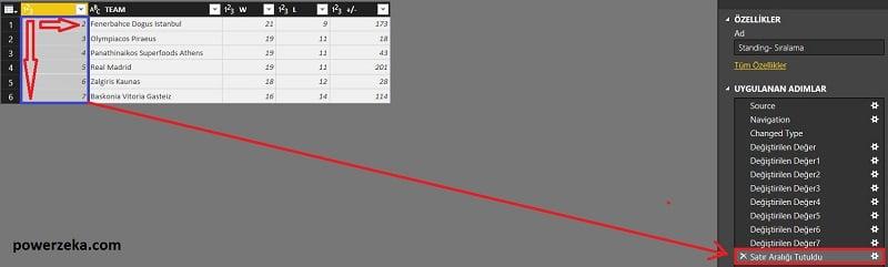 Query Editor - Home (Giriş) - Keep Range Of Rows