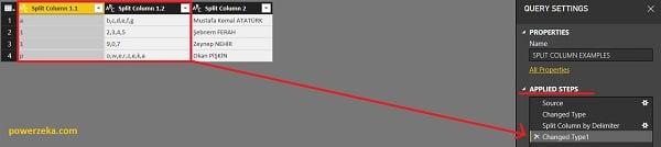 Left-most delimiter (En sondaki sınırlayıcı) - Comma (Virgül)