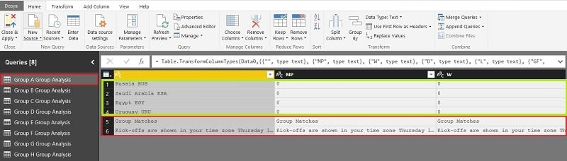Power BI - Query Editor (Edit Queries)