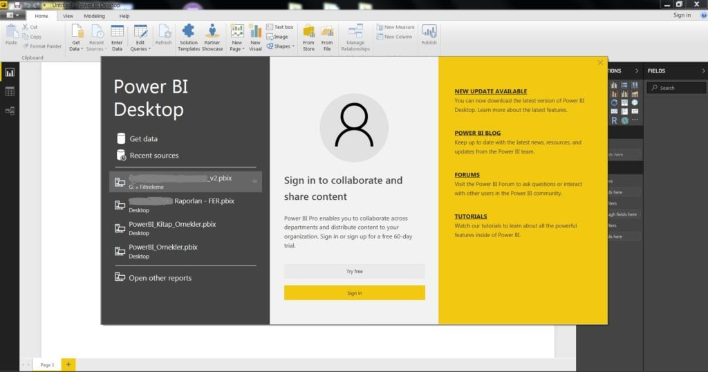 Power BI Desktop Uygulamasi -Power BI Nedir ?