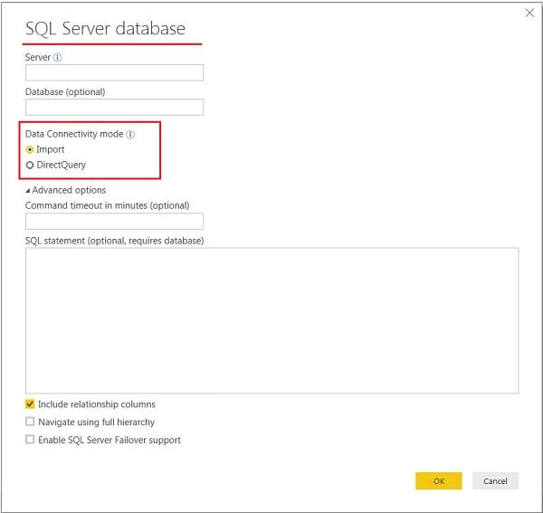 Power BI Veri Alma İşlemi -Get Data (Import /Direct Query)
