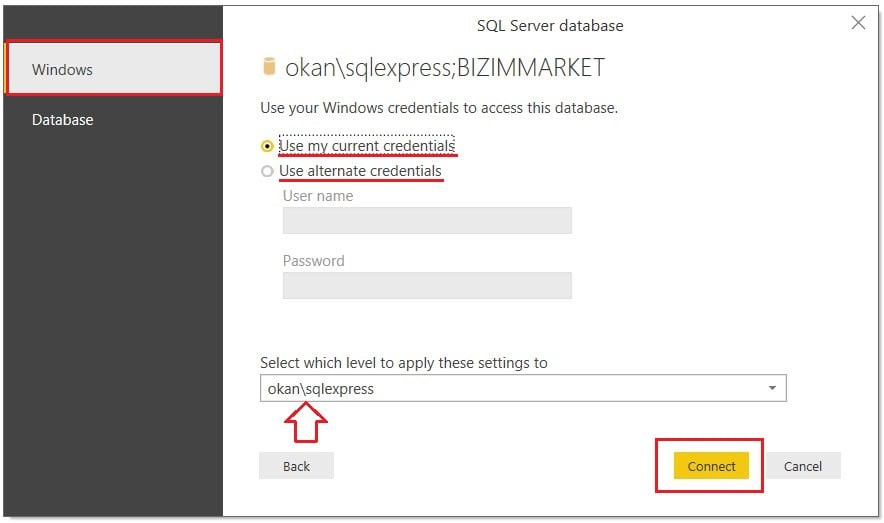Power BI SQL Server'dan Veri Çekme(Get Data From Database)