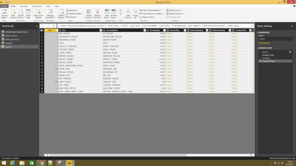 Power BI 'da XML İle Veri Alma