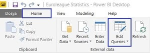 Power BI Desktop - Edit Queries
