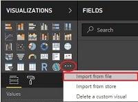 AppSource' dan İndirilen Bir Görselin İmport File İle Power BI Desktop' a Eklenmesi.
