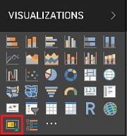 Power BI Desktop Visualizations Menüsün