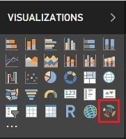 Seçilen Görsel, Power BI Desktop - Visualizations Menüsüne Eklenir.