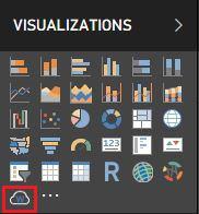 World Cloud - Seçilen Görsel, Power BI Desktop - Visualizations Menüsüne Eklenir.