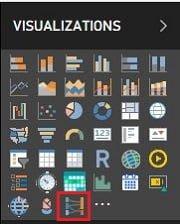 İndirilip - Eklenen Görsel, Power BI Desktop - Visualizations Menüsüne Eklenir.