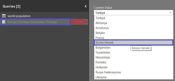 Power BI 'da Parametreleri Yönetme (Manage Parameters in Power BI)