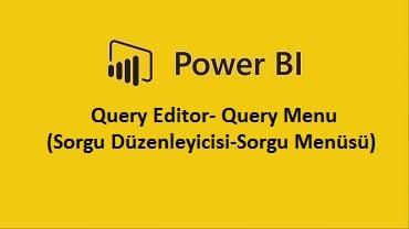 Query Editor- Query Menu (Sorgu Düzenleyicisi-Sorgu Menüsü)