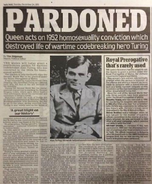 Alan Turing Kraliçe Tarafından Affedildi