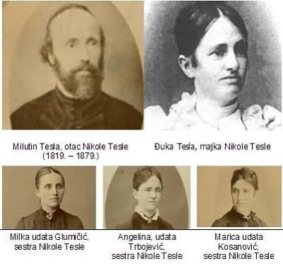 Nicola Tesla 'nın Ailesi